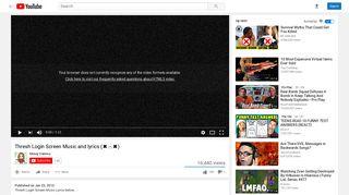 Thresh Login Screen Music and lyrics (        ) - YouTube