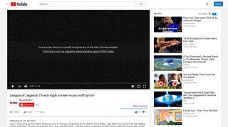 League of Legends Thresh login screen music with lyrics! - YouTube