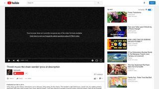 Thresh music the chain warden lyrics at description - YouTube