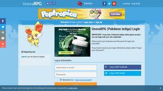 Login - UnovaRPG Online Pokemon Game