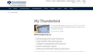 My Thunderbird   Thunderbird School of Global Management