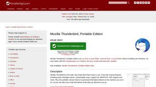 Mozilla Thunderbird Portable (email)   PortableApps.com