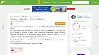 Ticketgenie India Pvt. Ltd. — Online Ticket Booking