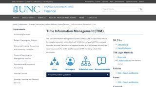 Time Information Management (TIM) - Finance