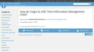 How do I login to UNC Time Information Management (TIM)? | Help ...