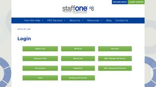 Login Area For Staff One HR Customers & Employees - Staff One
