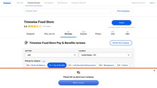 Working at Timewise Food Store: Employee Reviews about Pay ...