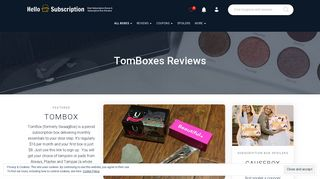 TomBoxes Reviews - hello subscription
