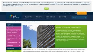 Moving to or within Tower Hamlets | One Housing