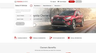 Toyota Owners Official Web Site