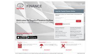 Login Portal for Toyota Finance
