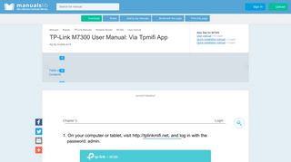Via Tpmifi App - Tp-link M7300 User Manual [Page 15] - ManualsLib