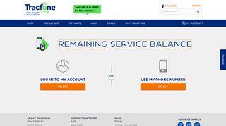 Check Balance | TracFone Wireless