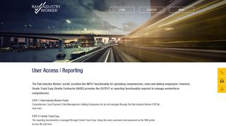 User Access | Reporting - Rail Industry Worker