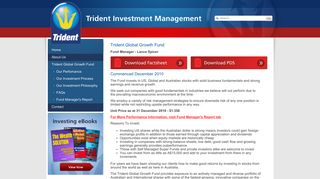 Trident Global Growth Fund - Trident Investment Management