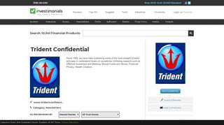 Reviews of Trident Confidential at Investimonials