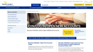 Login | Open Account | Credit Union Membership | Truliant