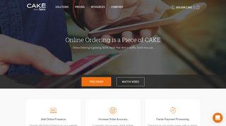Online Ordering For Restaurants Has Never Been Easier | CAKE