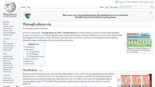Through-silicon via - Wikipedia