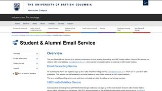Student & Alumni Email Service | UBC Information Technology