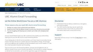 UBC Alumni Email Forwarding - alumni UBC - Simplify Your Online ...