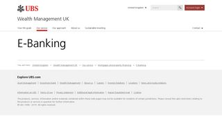 E-Banking | UBS United Kingdom