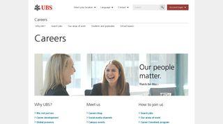Careers | UBS Global topics