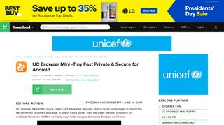 UC Browser Mini -Tiny Fast Private & Secure for Android - Free ...