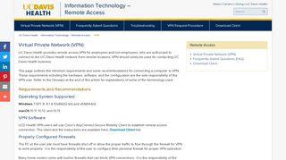 Remote Access   Virtual Private Network   UC Davis Health