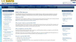 DSS VPN Service - DSS IT Service Center - UC Davis