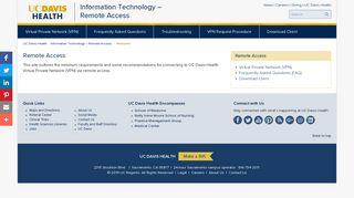 Remote Access   UC Davis Health