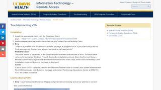 UC Davis Health System - Remote Access
