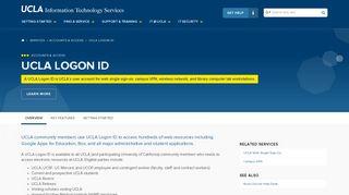 UCLA Logon ID   UCLA IT Services