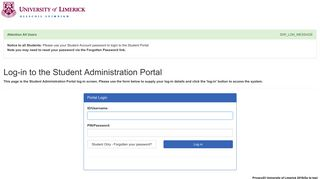 Log in to the portal