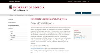 Grants Portal Reports, Research Outputs and Analytics, Office of ...