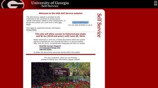UGA Self Service - University of Georgia
