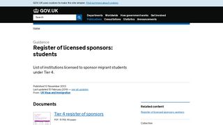 Register of licensed sponsors: students - GOV.UK