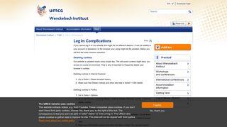 Log in: Complications - UMCG