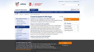 Create & Update Profile Pages - UMCG