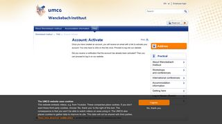 Account: Activate - UMCG
