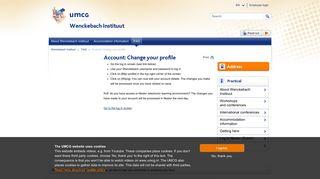 Account: Change your profile - UMCG