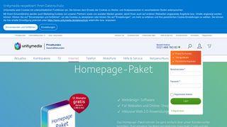 Homepage-Paket: Websites und Online-Shops - Unitymedia