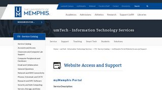 myMemphis Portal - The University of Memphis