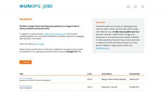 UNOPS Jobs   Vacancies at UNOPS