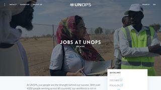 Jobs   UNOPS