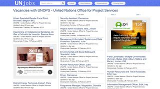 Vacancies with UNOPS - United Nations Office for Project Services ...