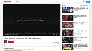 League of Legends URF Champion Select Music 10 HOURS - YouTube