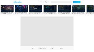 Planete URf Login Screen - league of Legends - Vidéo dailymotion