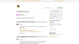 Compatibility with USAA / Online Banking / Discussion Area - Infinite ...