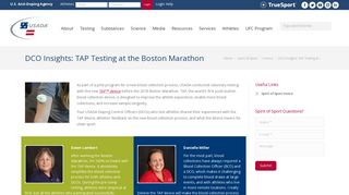 DCO Insights: TAP Testing at the Boston Marathon   USADA